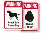 Warning Dog Breed Signs