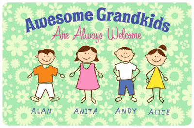 Custom Mats Awesome Grandkids Mat Signs Sku Mk 3038