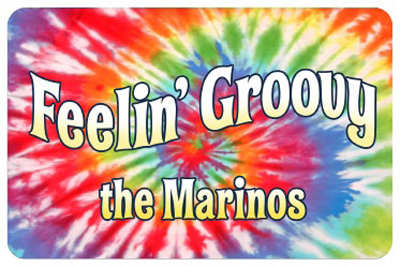 Welcome Mat Feelin Groovy Personalized Mat Signs Sku