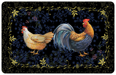 rooster mats - fun rooster & chicken welcome mats