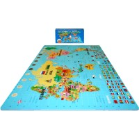 6 ft. 6 in. x 4 ft. World Map Set