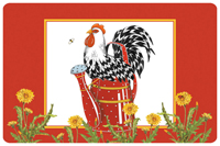 Rooster Watering Can Mat