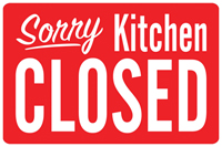 Sorry Kitchen Closed Mat