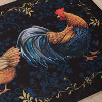 Rooster Black Mat