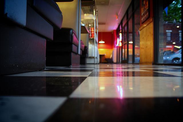 Dim Lights and Slippery Floor In Restaurants