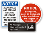 Search Packages & Vehicles Signs