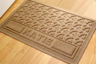 personalized pet placemats dog bone repeat mat signs sku mk 3045