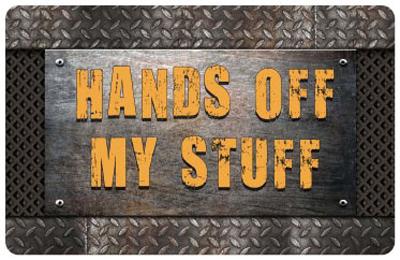 welcome mats hands off my stuff mat sku mt 2673