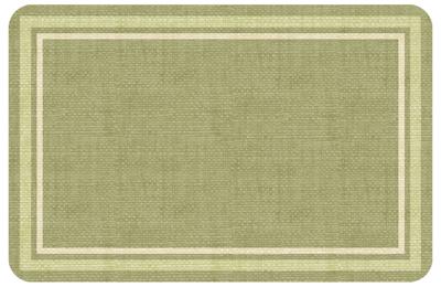 Texture Weave Green Mat