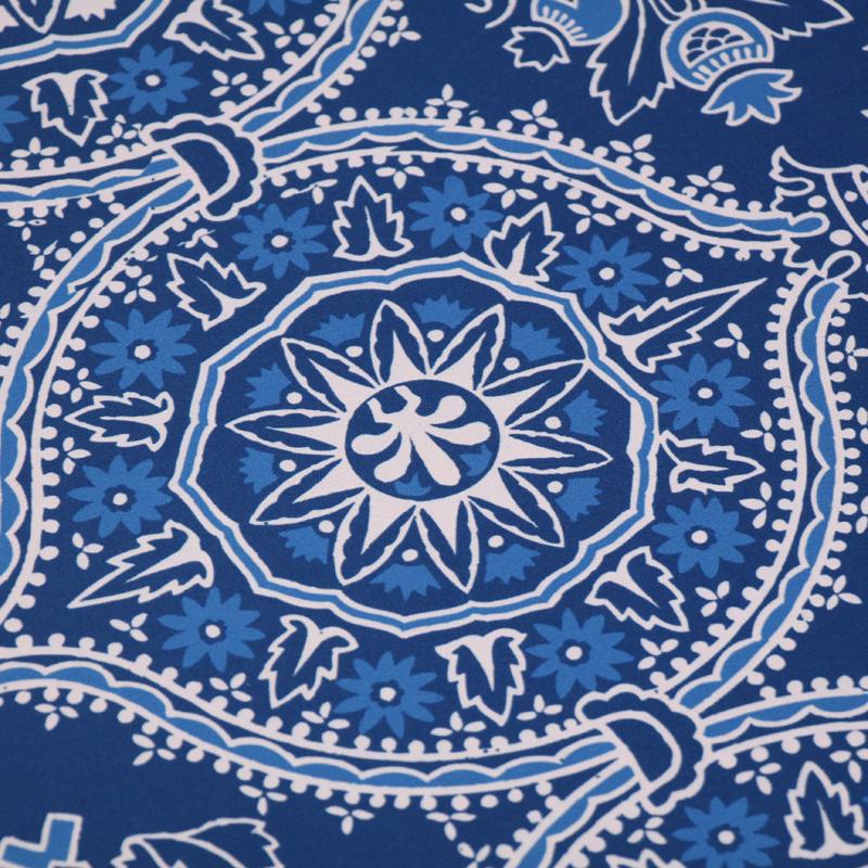 Blue Kitchen Floor Mats: Deep Blue Floral Mat Signs, SKU: MK-0066