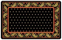 Black Paisley Mat