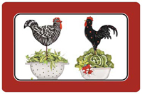 Colander Roosters Mat
