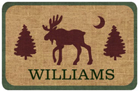 Rustic Lodge Moose Mat