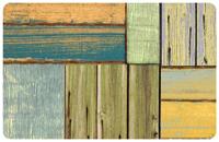 Patchwork Wood Mat
