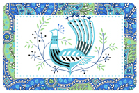 Peacock Paisley Mat