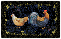 Rooster Black Mat