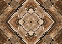 Rustic Wood Scope Mat