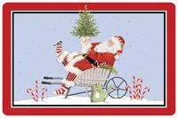 Santa Wheelbarrow Mat