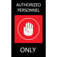 Authorized Personnel Safety Message Mat
