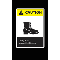 Safety Shoes Required Safety Message Mat