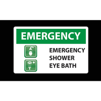 Emergency Shower Eye Bath Safety Message Mat
