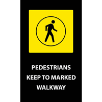 Pedestrians Walkway Safety Message Mat