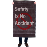 Safety Is No Accident Safety Message Mat