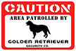 Caution Area Patrolled by [Dog Breed] Security Mat