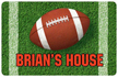 Personalized Football Welcome Mat