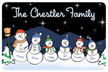 Snowman Family Night Mat
