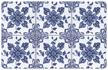 Delft Floral Mat