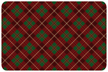 Holiday Plaid Red Mat