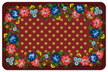 Red Floral Classic Mat