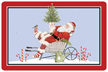 Santa Wheelbarrow Mat
