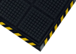 Anti-Fatigue Yellow Striped Border Mat for Dry Environments