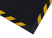 Linkable Grit Yellow Striped Border Corner Tile Mat