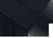 Anti-Fatigue Workstation Comfort Black Border Mat with Grit