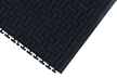 Chemical Resistant Interlocking Tile Floor Mat With Grit
