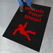 Watch Your Step Safety Message Mat