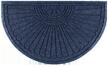 WaterHog Grand Classic Half-Oval Door Mat