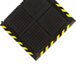Linkable Mat With Yellow Striped Border, End Piece