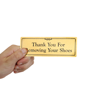Thank You for Removing Shoes Door Sign